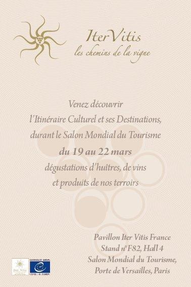 Salon mondiale du tourisme 2015 iter vitis for Salon mondial du fitness