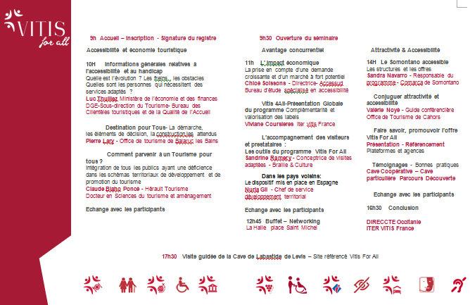 Vitis For All Seminaire 2017 Programme seminaire