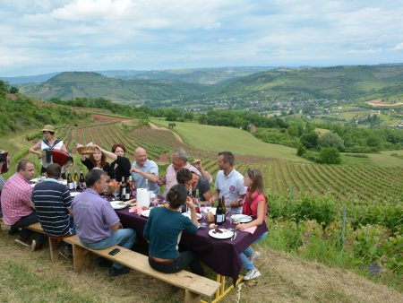 Casse-croûte dans les vignes : R. Combal