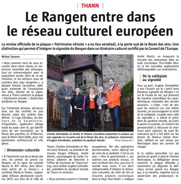 article Thann, L'alsace