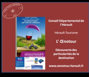 Iter Vitis Awards - Lauréats 2018 Hérault